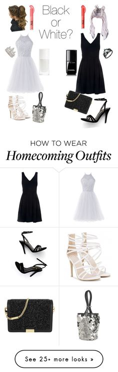 """""""Black or White?"""" by lola-evergreen on Polyvore featuring Claudie Pierlot, LULUS, MICHAEL Michael Kors, Alexander Wang and Chanel"""