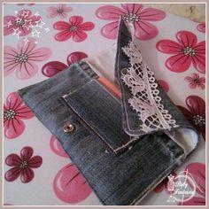 Blague a tabac pour Joss Repurpose, Denim, Simple, Jeans, Fashion, Couture Facile, Clutch Bags, Moda, Fashion Styles