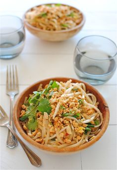Easy Pad Thai - Super yummy and really fast. took me less than 30 minutes! Also added some cut-up chicken breast that I pre-cooked. Just mixed it in!
