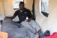 Zuwa with ZEN MANAGER Moses Nzou (Zimbabwe Elephant Nursery