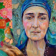 Ageless wisdom- Leo-Vinh- 2016- mixed media art on 80x80cm canvas- available