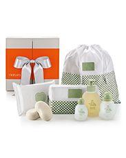 Presente Natura Mamãe e Bebê - Água de Colônia + Sabonete + Lenços Umedecidos + Nécessaire + Saco Organizador + Embalagem