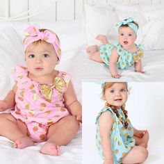 Polka Dot Romper - Available In 2 Colors- Pink Or Blue