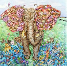 """Coloring by Betty Hung - colorart.ca 
