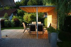Lena plant Terrasse mit Pavillon, Familie M., Köttmannsdorf