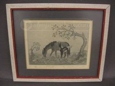 shopgoodwill.com: Woody Crumbo Signed etching Horse