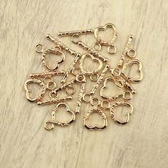 Heart bracelet claspjewelry findingnecklace by WangDesignJewelry