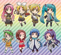 The ultimate chibi crossover/cosplay!!! :) <3 #Hetalia #Vocaloid #chibi