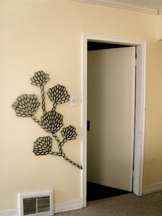 wall art from toilet paper rolls