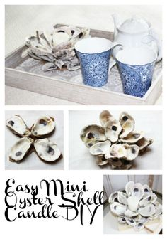 Create an Easy Mini Oyster Shell Candle! Simple Nature Decor