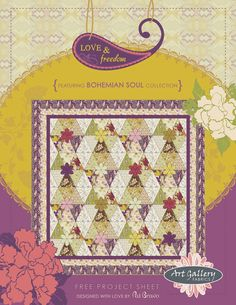 Love & Freedom Quilt by Pat Bravo pattern