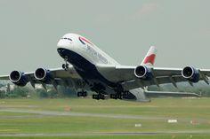 Airbus A380 British Airways | Décollage pour exhibition Salo… | Flickr