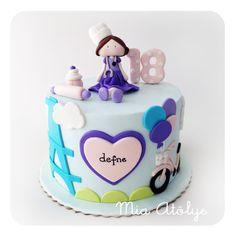 Parisienne chef themed 18th birthday cake