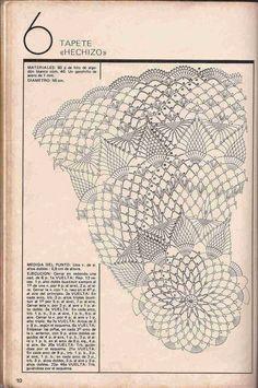 """схема к фото 36) #335 Tapete """"Hechizo"""" a Crochet o Ganchillo"""
