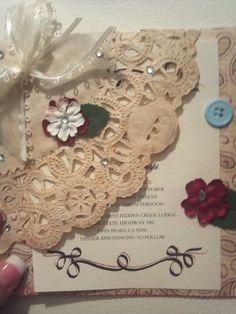 Home made wedding invitations ;)