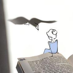 Il mio corpo sulla terra, il mio spirito nelle nuvole. E tutti e due dentro un libro. - via Eliana Bucci
