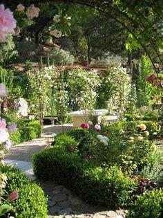 Pretty garden and arbor