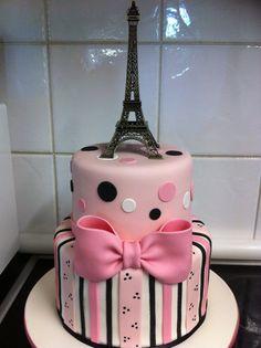 Paris Eiffel Tower Cake - by Mudj03 @ CakesDecor.com - cake decorating website