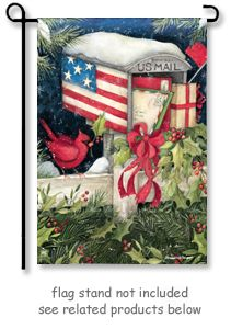 Christmas Cards Garden Flag By Artist Susan Winget For Breeze Art, Is The  Perfect Flag