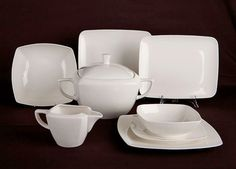 Serwis obiadowy KAROLINA Hiruni 12/41, Porcelana Polska Sugar Bowl, Bowl Set, Porcelain Ceramics