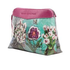 Cosmetic Bag – Festival of Flowers $117.99 This cosmetic bag perfectly combines aesthetics with efficiency: approximately 6″ x 3″x 2″, it is spacious yet convenient to carry. Mario Hernandez, Purses And Handbags, Cosmetic Bag, Coin Purse, Aesthetics, Cosmetics, Wallet, Flowers, Fashion