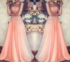 Charming Prom Dress,Tulle Prom Dress,Pink Prom Dress,Beaded Prom Dress,Long Prom Dress