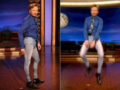 so Jeggings. I swear when guys actually start wearing these (and it doesn't appear to be too far off) I'm moving to another planet lol Conan O Brien, Golden Tan, News Media, Funny Pictures, Funny Pics, The Struts, Jeggings, Gossip, The Fosters
