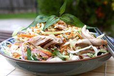 Goi-Ga - Vietnamese Cabbage Salad with  Poached Chicken