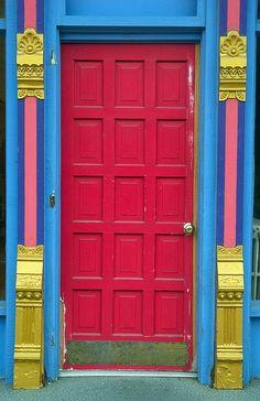Entrance Doors, Doorway, Garage Doors, Cool Doors, Unique Doors, Fairfield Iowa, Doors Galore, When One Door Closes, Painted Doors