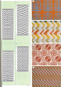 "Photo from album ""Pattern Library"" on Yandex. Knitting Projects, Knitting Patterns, Fair Isle Pattern, Needlepoint Stitches, Pattern Library, Tapestry Weaving, Optical Illusions, Shibori, Blackwork"