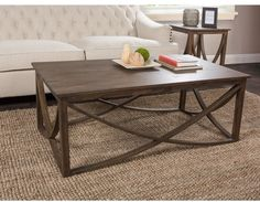 Kosas Collections Kosas Home Hand-finished Maura Rustic Mahogany Coffee Table