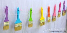 Art party Paint Brush Garland