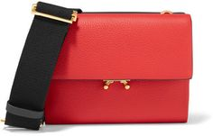Marni - Wallet Small Color-block Leather Shoulder Bag - Red #handbags
