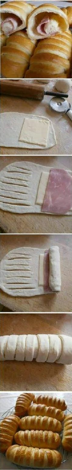 How to make sandwiches filled with ham and cheese