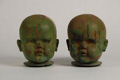 Doll head molds.