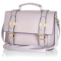River Island Lilac large satchel ($22) ❤ liked on Polyvore featuring bags, handbags, purses, bolsas, accessories, purple, sale, pink purse, vegan purses and pink satchel handbags