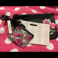 VS - Set of 3 Cosmetic Bags w/FREE gift BNWT - Victoria Secret set of 3 accessory/cosmetic bags (comes w/FREE gift: choice of VS perfume or PINK headband) Victoria's Secret Bags Cosmetic Bags & Cases