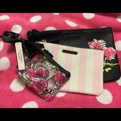 Victoria Secret - Set of 3 Cosmetic Bags BNWT - Victoria Secret set of 3 accessory/cosmetic bags Victoria's Secret Accessories