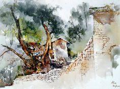 Gebang Bahasa - Susastera BM: Koleksi Seni Lukis Air oleh Chan Chang How.