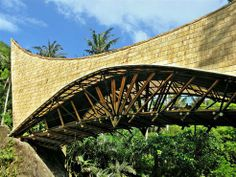 Beautiful Bridge in Bali Constructed Entirely With Bamboo In Four Months