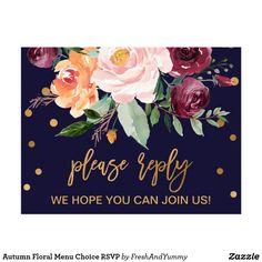 Wedding Responsecards Autumn Floral Wedding Website Rsvp Card