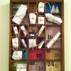 Advent calendar. A little gift for my sweetie-Christmas every day of December!