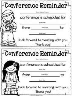 Here's a simple little Parent-Teacher Conference form to help you ...
