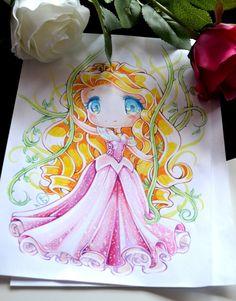 Chibi Princess Aurora by Lighane on DeviantArt