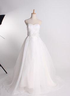 Fashionable sweetheart empire waist organza wedding dress.