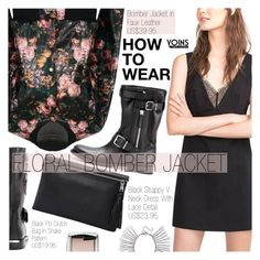 """Yoins 16:Bomber Jacket"" by pokadoll ❤ liked on Polyvore featuring Burberry, Rebecca Minkoff, Hourglass Cosmetics and yoins"