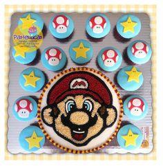 Mario Bros cake & cupcakes