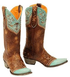 Womens Old Gringo Brown & Turquoise Vera Vesuvio Western Leather Cowboy Boots #OldGringo #CowboyWestern