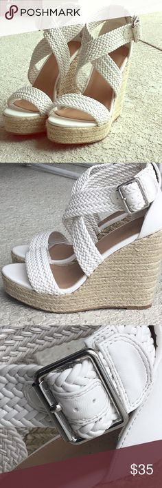 .Charlotte Russe White Wedges. White leather wedges. Brand new. Charlotte Russe Shoes Wedges