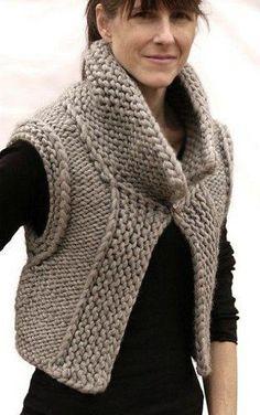 #вязание спицами жилет из толстой пряжи